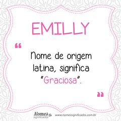 Significado do nome Emilly