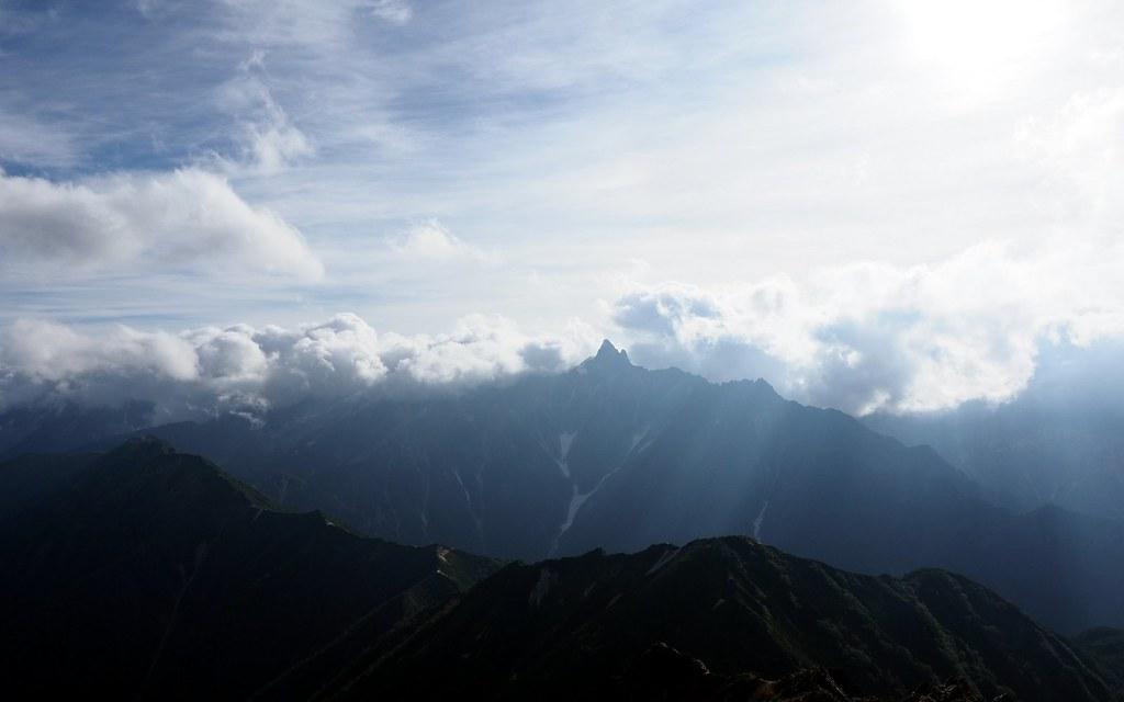 大天井岳頂上からの槍ヶ岳
