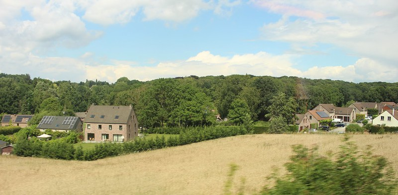 Scenery from the train, near Brussels