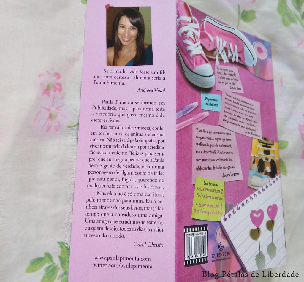 Resenha, livro, Fazendo-meu-filme-A-estreia-de-Fani, Paula-Pimenta, editora-gutenberg, opinião, crítica, comprar, capa, trechos,