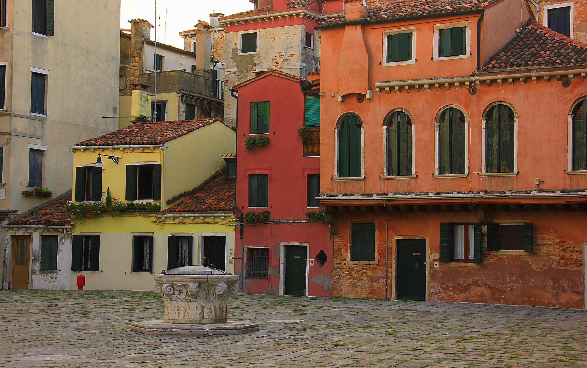 A square near Doges Palace in Venice