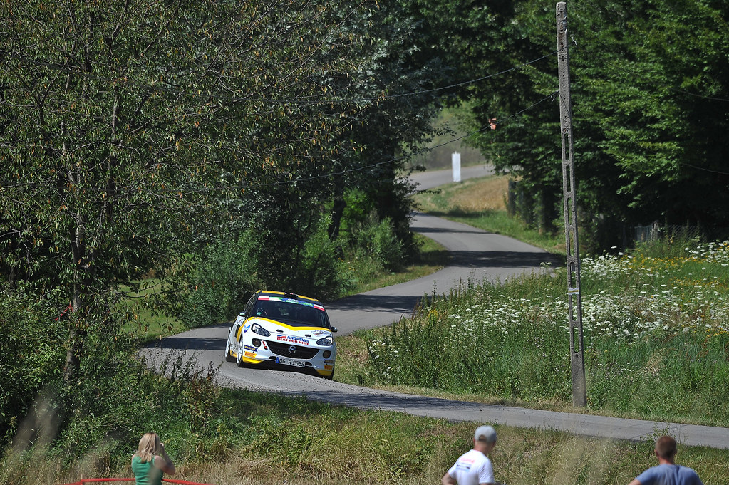 30 INGRAM Chris (GBR) ELLIOTT Edmondson (GBR) Opel Adam R2 action during the 2017 European Rally Championship Rally Rzeszowski in Poland from August 4 to 6 - Photo Wilfried Marcon / DPPI