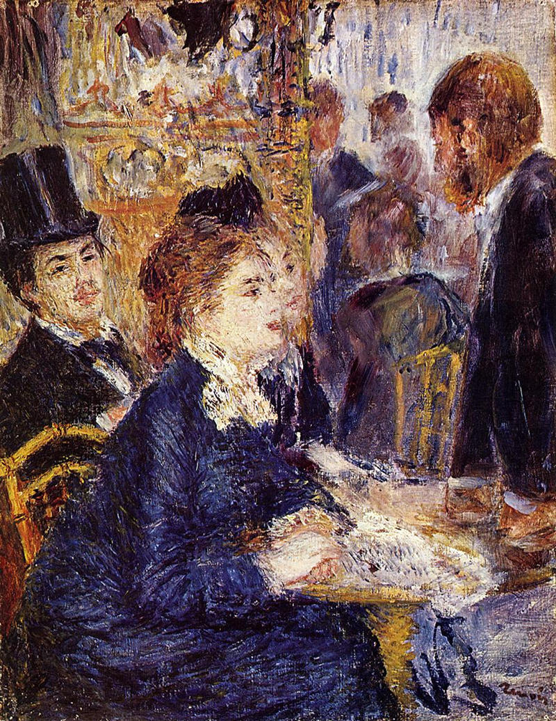 The Cafe by Pierre Auguste Renoir, 1877