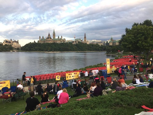 Seating at the Casino Lac Leamy Sound of Light Fireworks