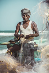 Fisherman after work - Mahabalipuram