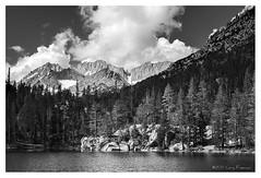 Serene lake eastern sierra