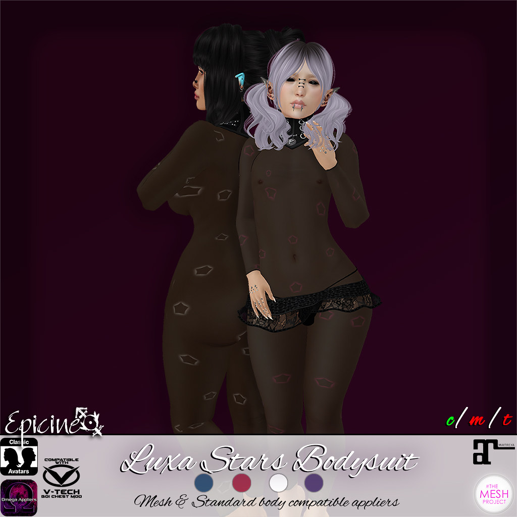 Epicine - Luxa Stars Bodysuit [Appliers] - SecondLifeHub.com