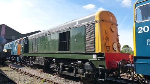 8001 'British Rail' Class 20 loco /1 on Dennis Basford's railsroadsrunways.blogspot.co.uk