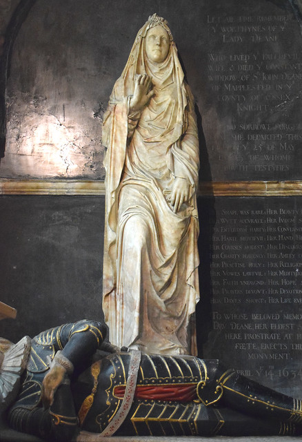 Lady Anne in her shroud with her foot on her son
