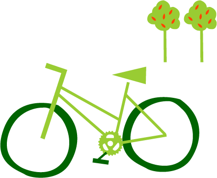 Ride+Stride for churches - graphic of bike