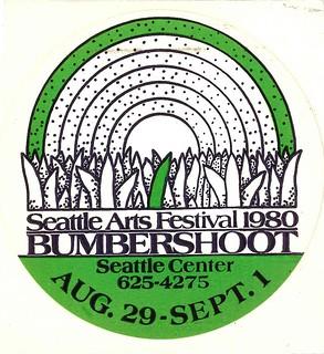 Bumbershoot sticker, 1980