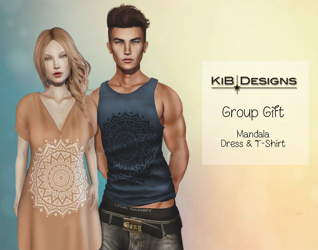 KiB-Designs - Mandala-Dress & T-Shirt GROUP GIFT - SecondLifeHub.com