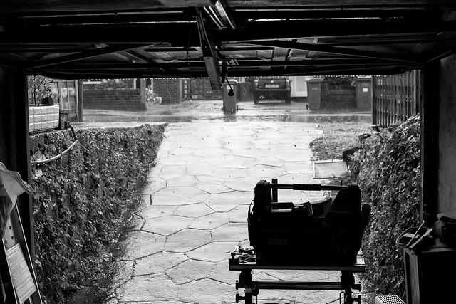 Summer Rain Garage View 2017