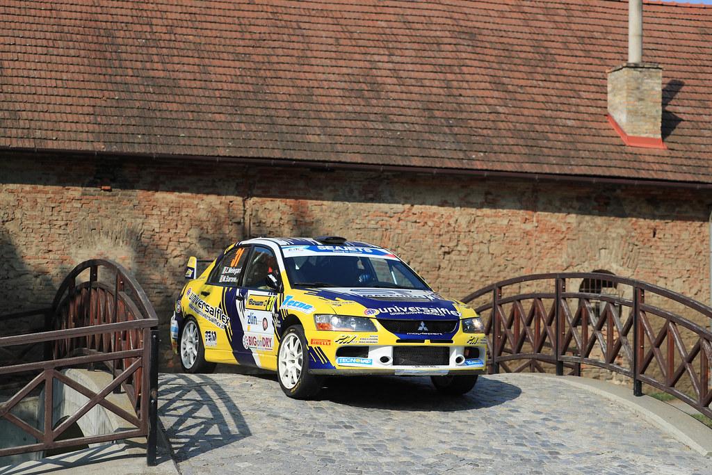 31 MELEGARI Zelindo (ITA) BARONE Maurizio  (ITA) Mitsubishi Lancer Evo IX action during the 2017 European Rally Championship ERC Barum rally,  from August 25 to 27, at Zlin, Czech Republic - Photo Jorge Cunha / DPPI