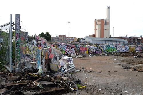 Graffitiväggar som vittrar