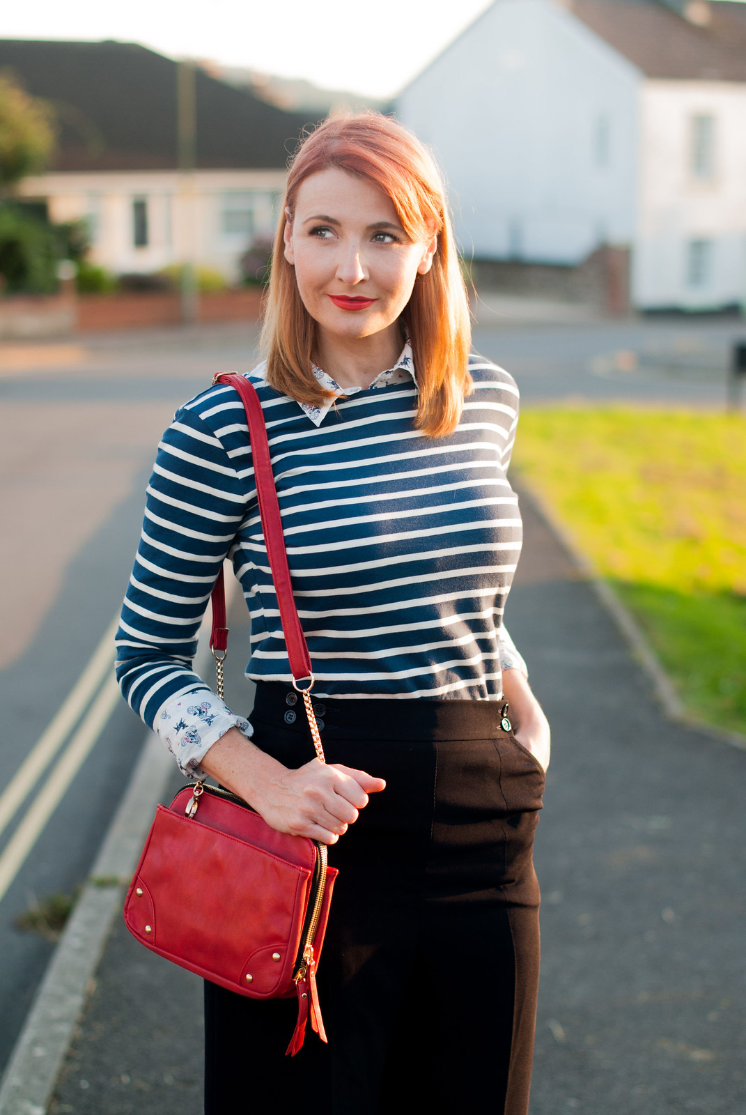 a16ad580876 Ways to style a Breton stripe top  Office chic workwear - with navy wide ...