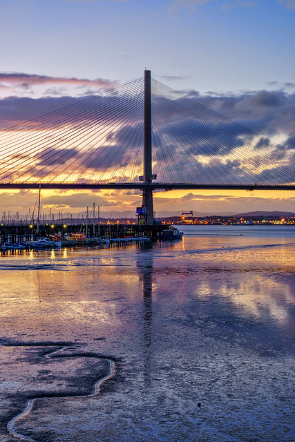 The Queensferry Crossing at Twilight