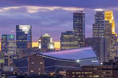 Downtown Minneapolis Telephoto Long Exposure
