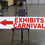 Exhibits Carnival Sign.