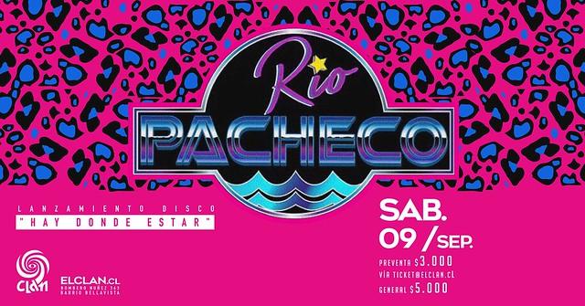 Rio Pacheco presenta su disco debut en concierto en Bar El Clan 9 septiembre