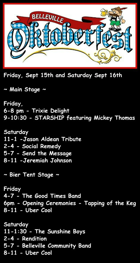 Belleville Oktoberfest 9-15, 9-16-17