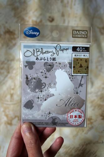 Daiso x Disney blotting paper
