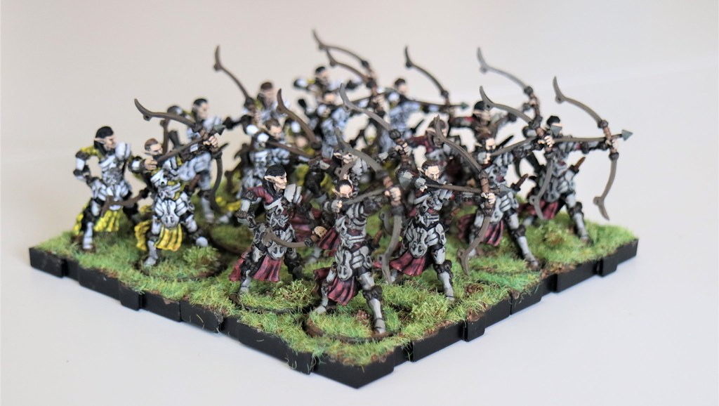 Runewars Miniatures Elven Archers Front