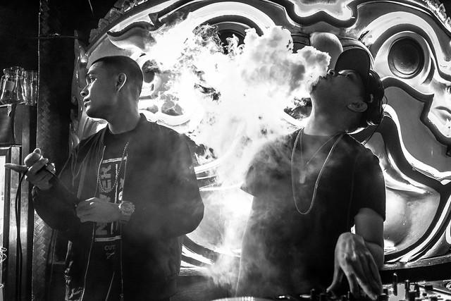 DJ Leomario up in smoke
