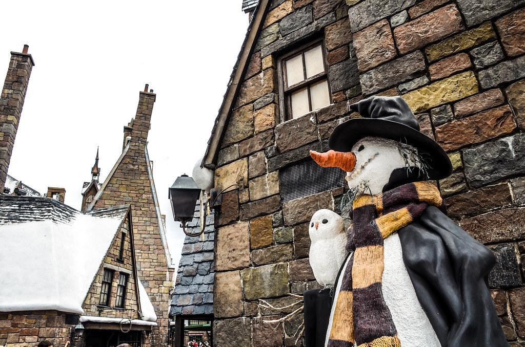 snowman hogsmeade bricks IoA