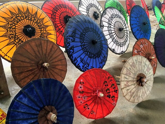 Myanmar umbrellas