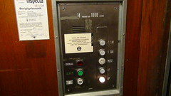 elevator buttons in passenger freight in abandoned post office