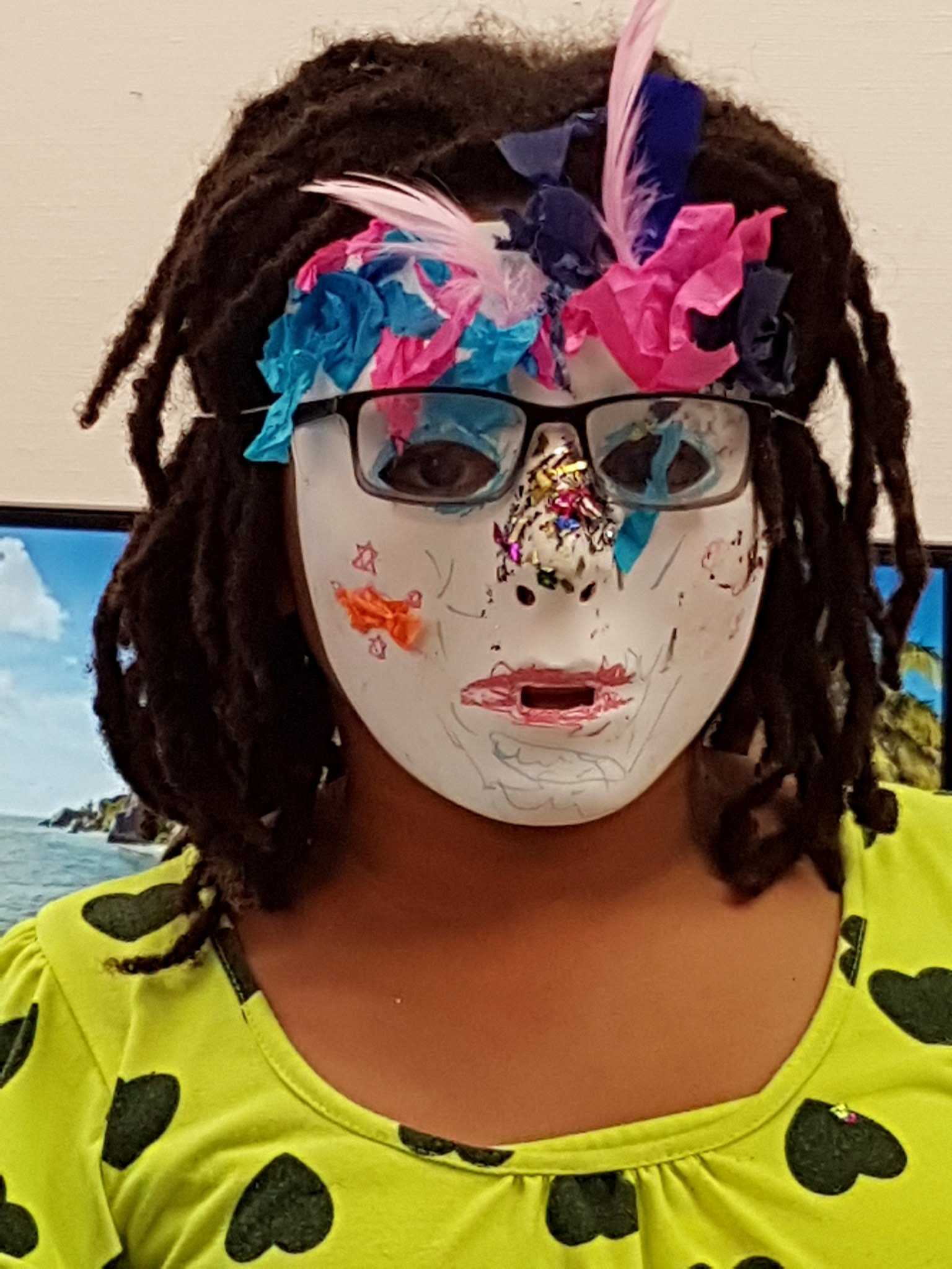 Mask making with local children sponsored by The China Walk TRA