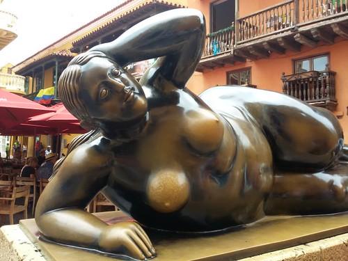 Botero na cidade antiga.