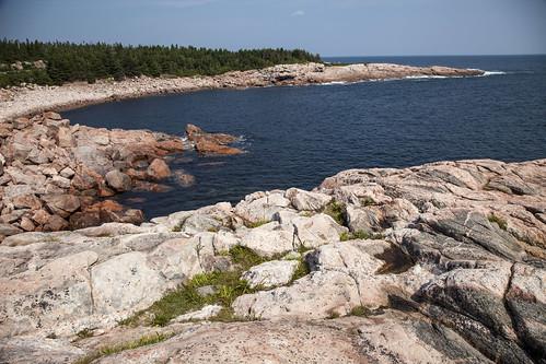 novascotia canada places capebretonhighlandsnationalpark green cove rocks ocean