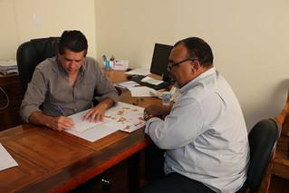 David Martins recebe secretário da Igualdade Social