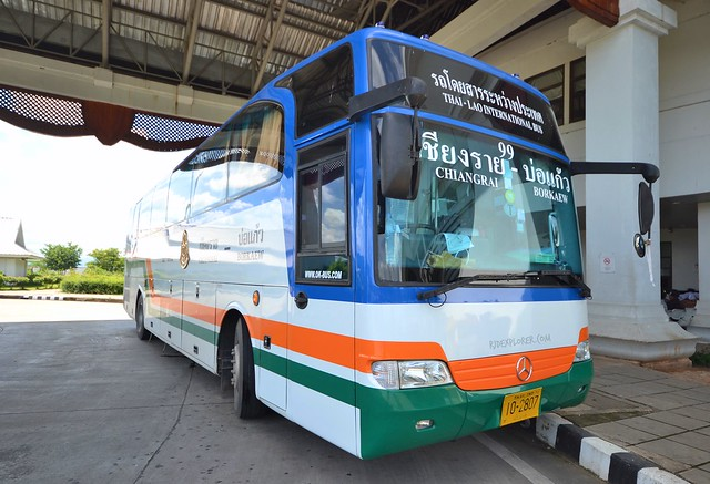 thailand laos border crossing bus shuttle