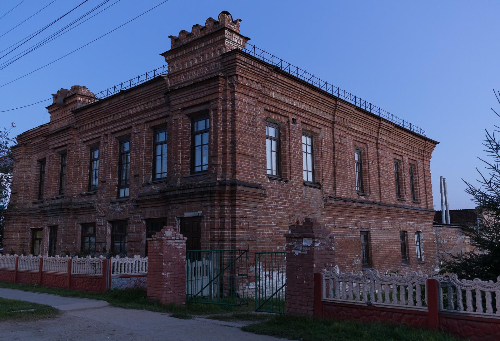 Дом купца Ф.К. Кривцова в 2017 году, рп. Колывань, ул. Советская 43