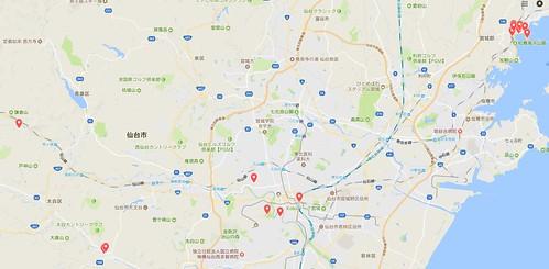 仙台旅行マップ