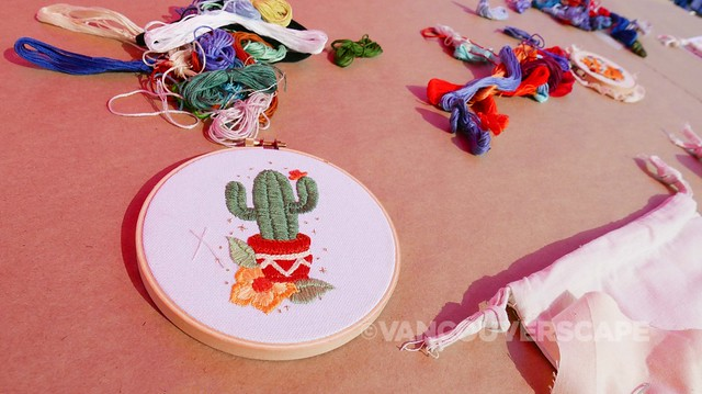 Botanical embroidery workshop 5