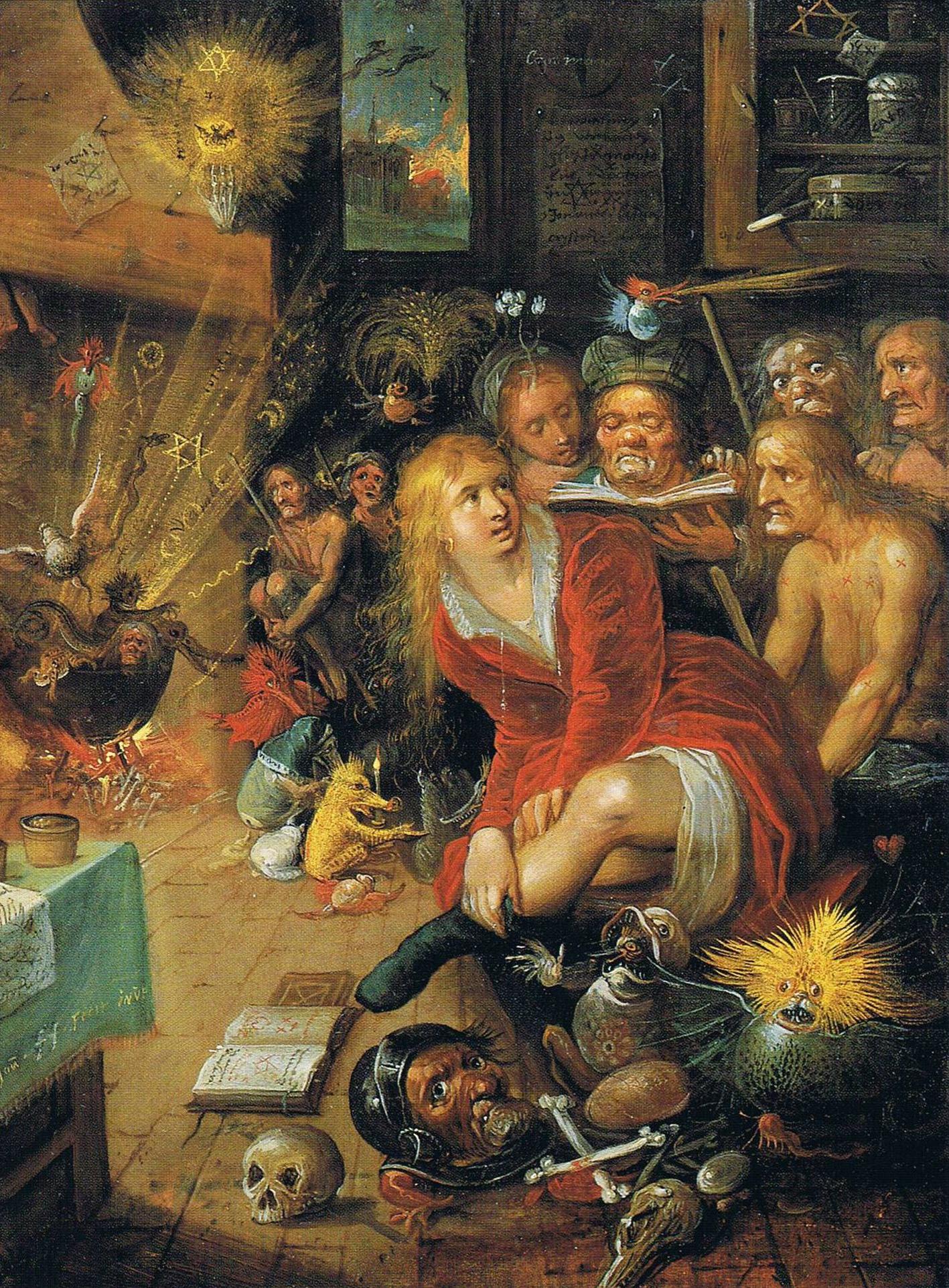 Franz Francken the Younger -  Witches' Kitchen, 17th c