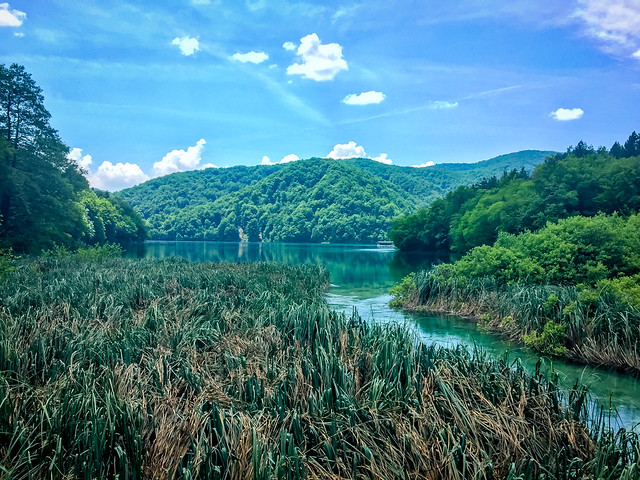 Surrounding Scenery At Plitvice Lakes Croatia