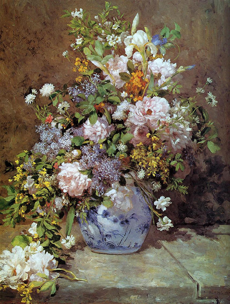 Spring Bouquet by Pierre Auguste Renoir, 1866