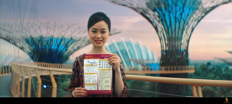 singapore airlines new in flight safety video