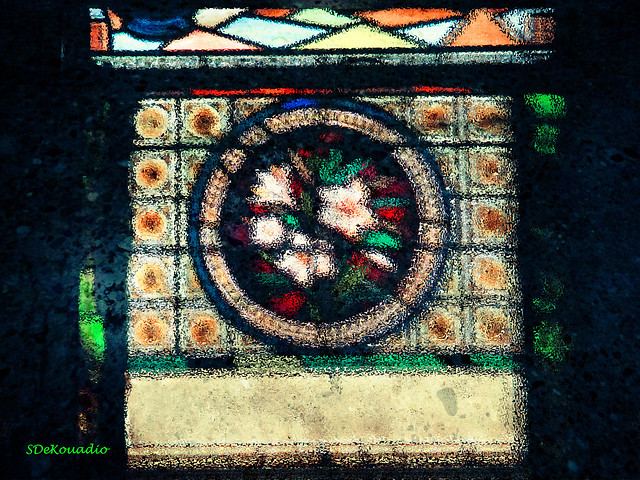 White Lilies Stained Glass
