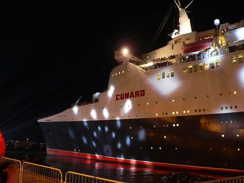 QE2's final departure from Southampton, November 11, 2008.