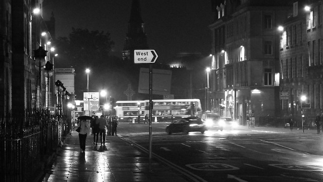 wet night in the New Town