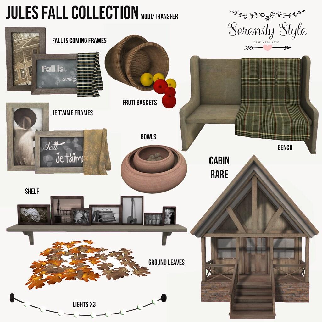 Serenity Style- Jules Fall Gacha Col. - SecondLifeHub.com