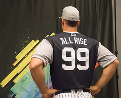 All Rise! Aaron Judge shows off his  PlayersWeekend jersey…  025caf9a44a