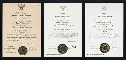 Framed Exequaturs Signed by Indonesian President Soeharto
