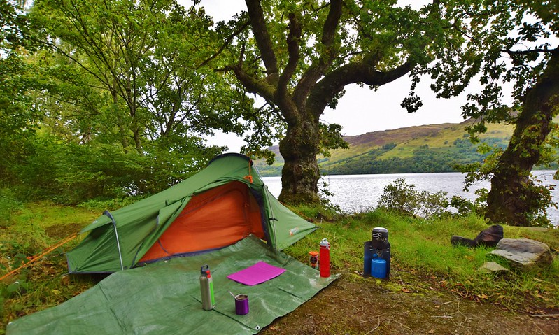 Lake Earn - wild camping in Vango Banshee 200